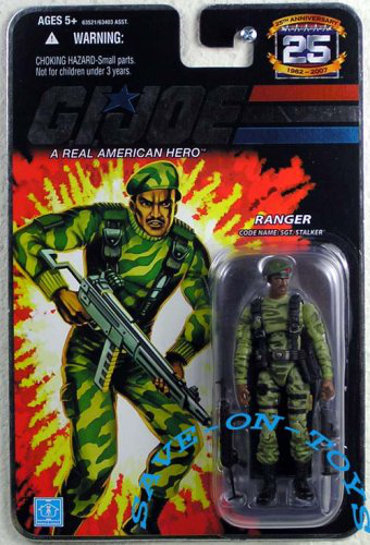 G. I. Joe Hasbro 25TH Anniversary 3 3/4 Wave 3 Action Figure Sgt. Stalker [ranger]